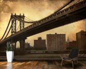 Brooklyn Bridge Sepia wallpaper mural kitchen preview