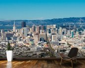 San Francisco city skyline mural wallpaper kitchen preview