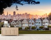 San Francisco Alamo Square wall mural living room preview