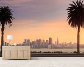 San Francisco from Treasure Island. wallpaper mural living room preview