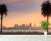 San Francisco from Treasure Island. wallpaper mural in-room view