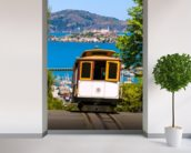 San francisco Cable Car wall mural in-room view