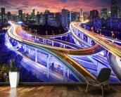 Shanghai Highway Sunset wall mural kitchen preview