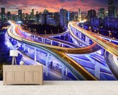 Shanghai Highway Sunset wall mural living room preview