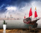 Hong Kong Harbour Boat wall mural kitchen preview