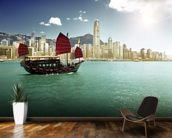 Hong Kong Sailing Boat wall mural kitchen preview