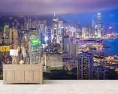 Hong Kong Island Skyline wall mural living room preview