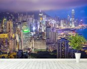 Hong Kong Island Skyline wall mural in-room view