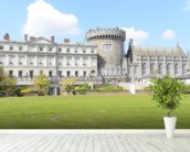 Dublin Castle wall mural in-room view
