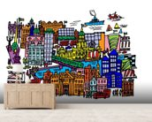Dublin city centre wallpaper wall mural wallsauce australia for Dublin wall mural
