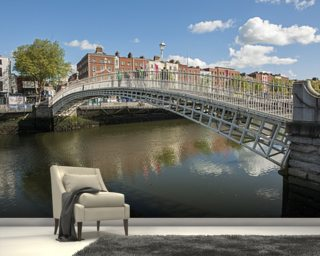 City skyline wall murals wallpaper murals wallsauce for Dublin wall mural