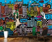 Dublin Art Abstract wall mural kitchen preview