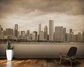 Vintage Chicago Sepia mural wallpaper kitchen preview