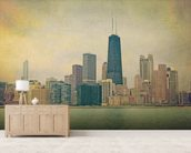 Vintage Chicago wall mural living room preview