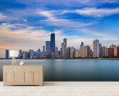 Chicago Skyline wall mural living room preview