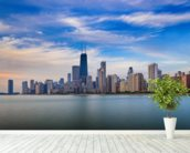 Chicago Skyline wall mural in-room view