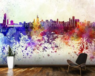 Chicago Abstract wall mural