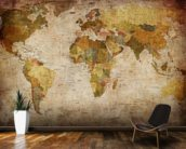Old Style World Map wall mural kitchen preview