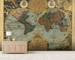 Colour Old Map wallpaper mural