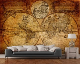 Old Globe Map 1746 Mural Wallpaper Wall Murals Wallpaper
