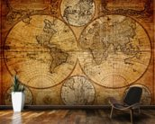 Old Globe Map 1746 mural wallpaper kitchen preview