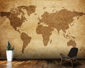 Textured World Map wall mural kitchen preview