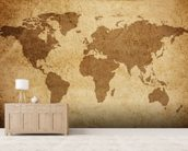 Textured World Map wall mural living room preview