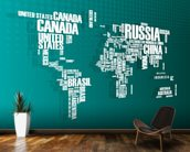 Turquoise Word Cloud Map mural wallpaper kitchen preview