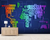 Map Word Cloud wall mural living room preview