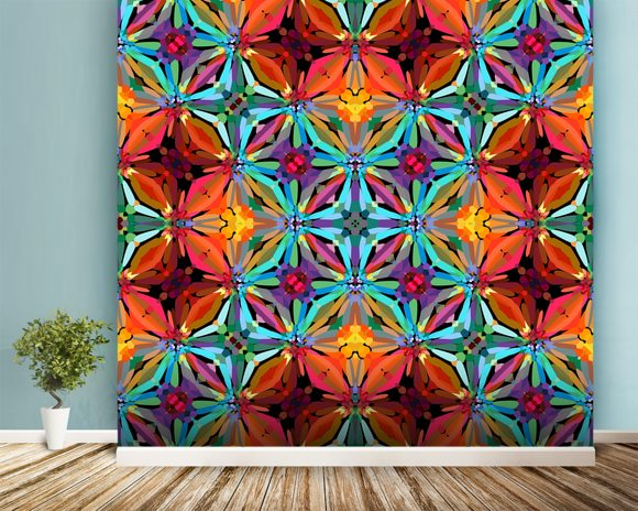 Unity mural wallpaper room setting