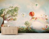 The Meadow wallpaper mural living room preview