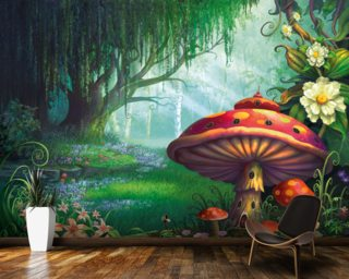 Enchanted Forest Mural Wallpaper Wall Murals Wallpaper
