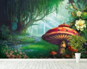 Enchanted Forest mural wallpaper in-room view