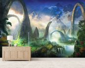 Great North Road wall mural living room preview