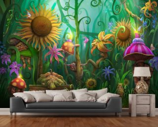 Meet the Imaginaries wallpaper mural