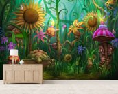 Meet the Imaginaries wallpaper mural living room preview