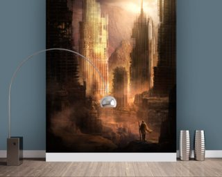 The Arrival wall mural