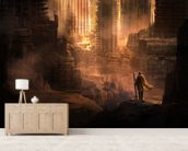 The Arrival wall mural living room preview