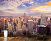 Midtown Manhattan Sunset wallpaper mural kitchen preview