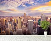 Midtown Manhattan Sunset wallpaper mural in-room view