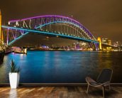Sydney Harbour Bridge at Night wallpaper mural kitchen preview