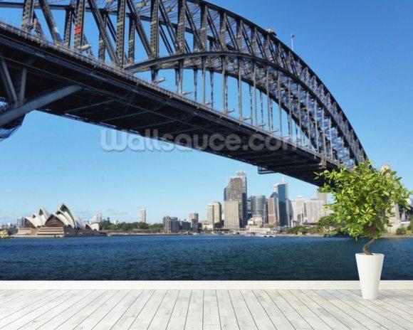 Sydneys harbour bridge wallpaper wall mural wallsauce australia sydneys harbour bridge wall mural room setting altavistaventures Choice Image