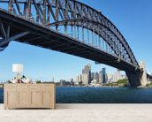 Sydney's Harbour Bridge wall mural living room preview