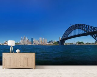 Sydney Harbour Skyline Panorama mural wallpaper