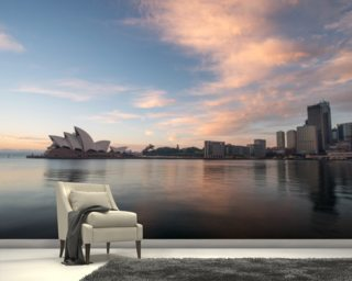 Sunrise over Sydney Opera House wallpaper mural