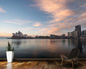 Sunrise over Sydney Opera House wallpaper mural kitchen preview