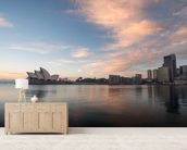 Sunrise over Sydney Opera House wallpaper mural living room preview