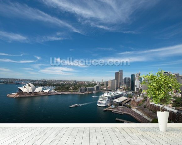 Sydney Skyline and Opera House wall mural room setting