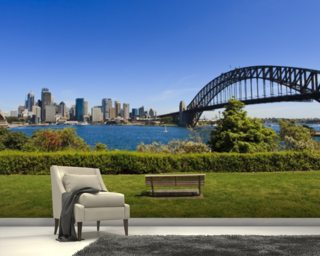 Sydney from Milson's Point mural wallpaper