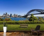 Sydney from Milson's Point mural wallpaper kitchen preview